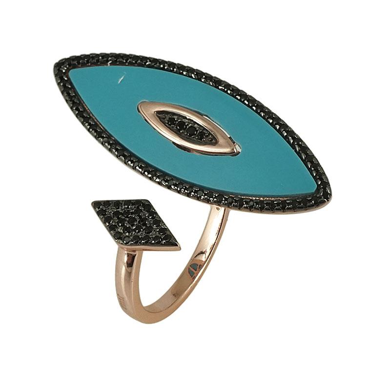 Jools Ασημένιο Ροζ Επιχρυσωμένο Δαχτυλίδι JR804.1