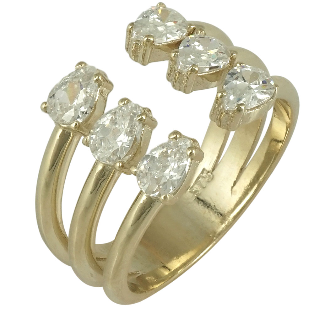 Δαχτυλίδι Σεβαλιέ Simple Lines από Κίτρινο Χρυσό Κ9 DX431