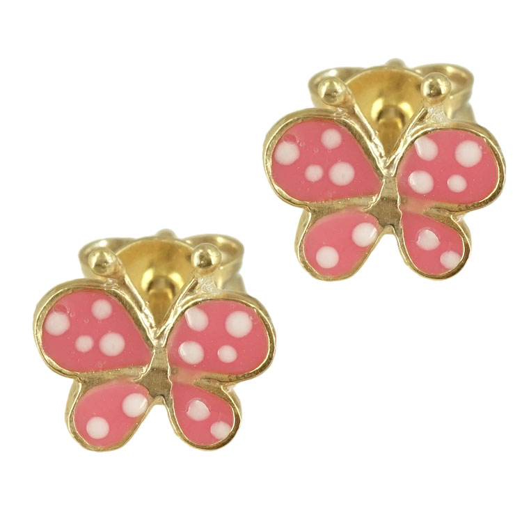 Ασημένια Παιδικά Σκουλαρίκια Πεταλούδες PSK210