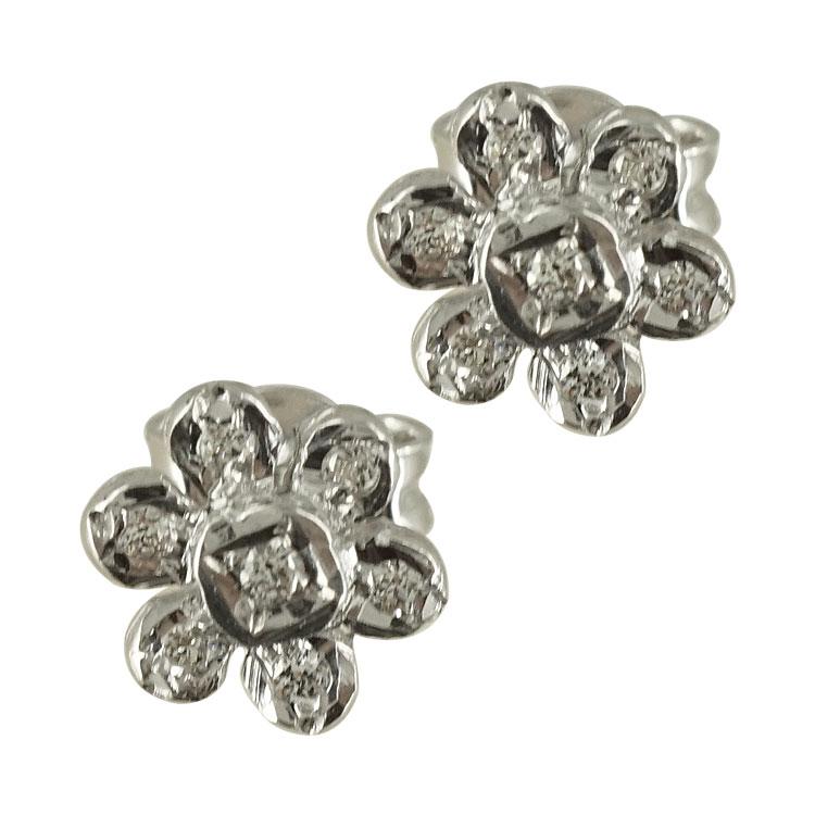 Ασημένια Παιδικά Σκουλαρίκια Μαργαρίτες PSK229