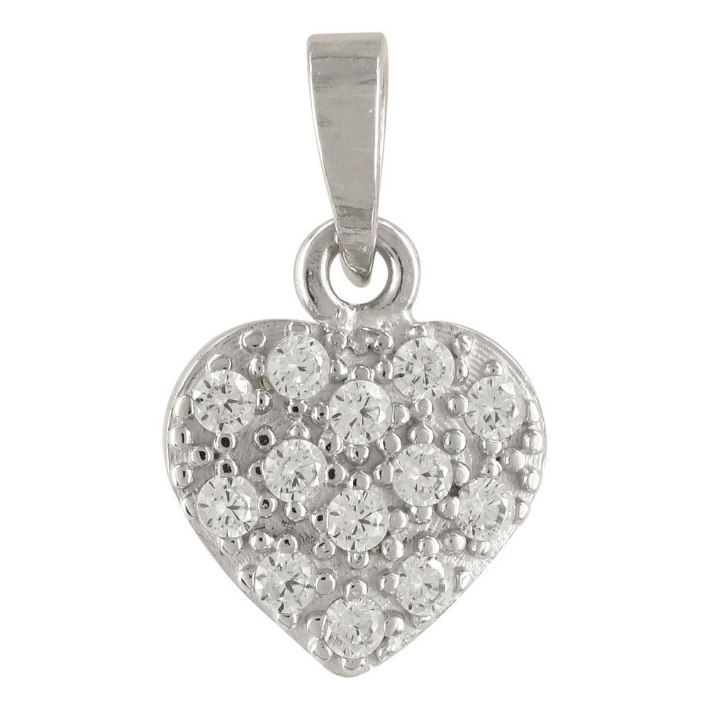 Λευκόχρυσο Μενταγιόν Καρδιά Κ14 M276