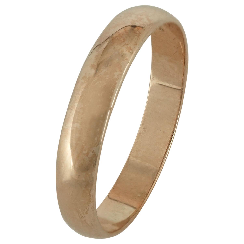 Ροζ Χρυσή Βέρα Γάμου WR165R k9