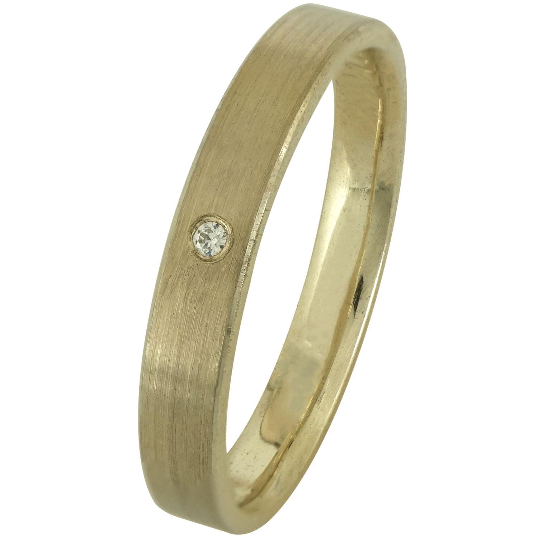 Κίτρινη Χρυσή Βέρα Γάμου με ή χωρίς Πέτρες WR168 k14 diamonds