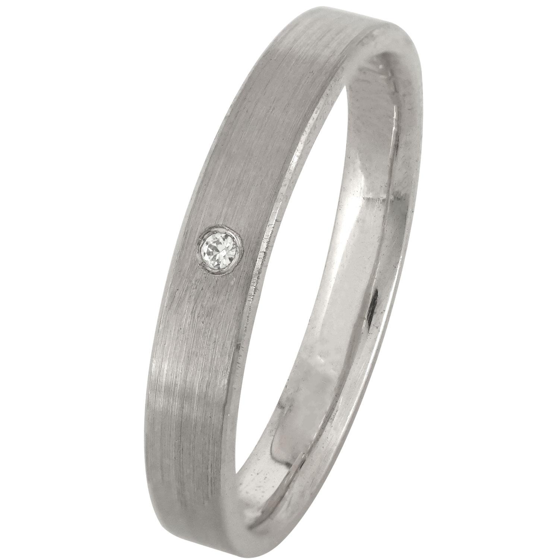 Λευκόχρυση Βέρα Γάμου με ή χωρίς Πέτρες WR168W k14 diamonds