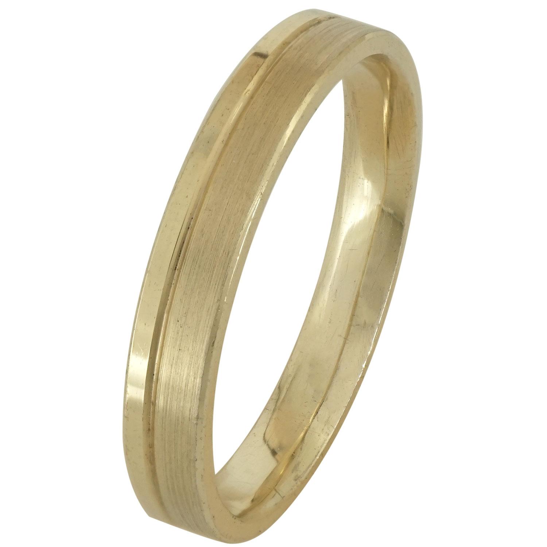 Κίτρινη Χρυσή Βέρα Γάμου WR170 k14