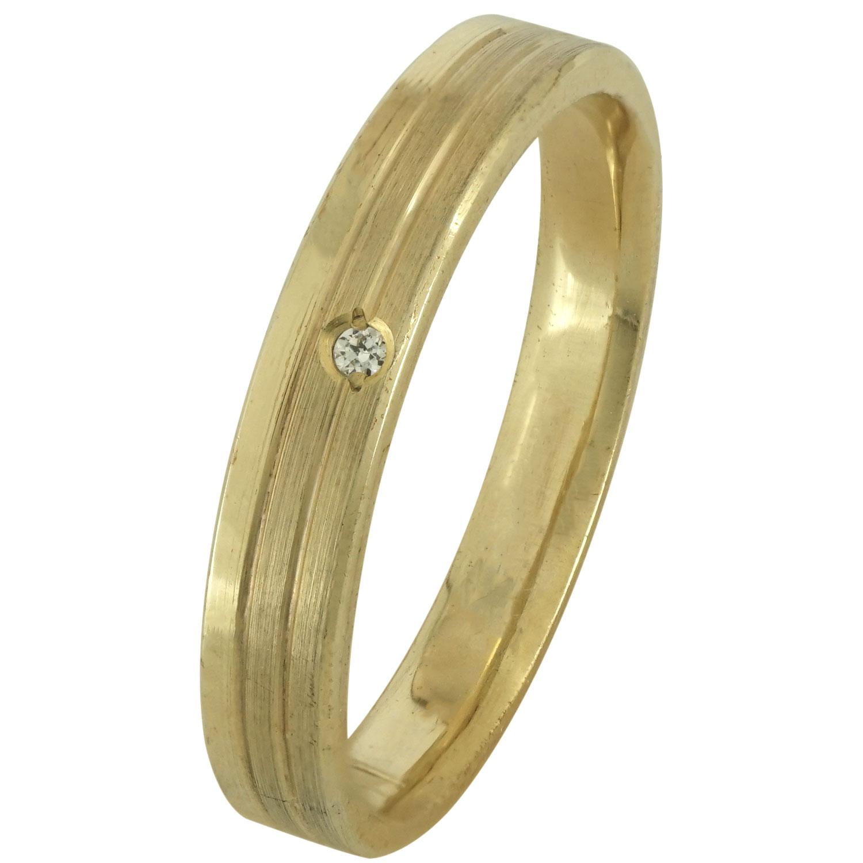 Κίτρινη Χρυσή Βέρα Γάμου με ή χωρίς Πέτρες WR171 k18 xoris_petra