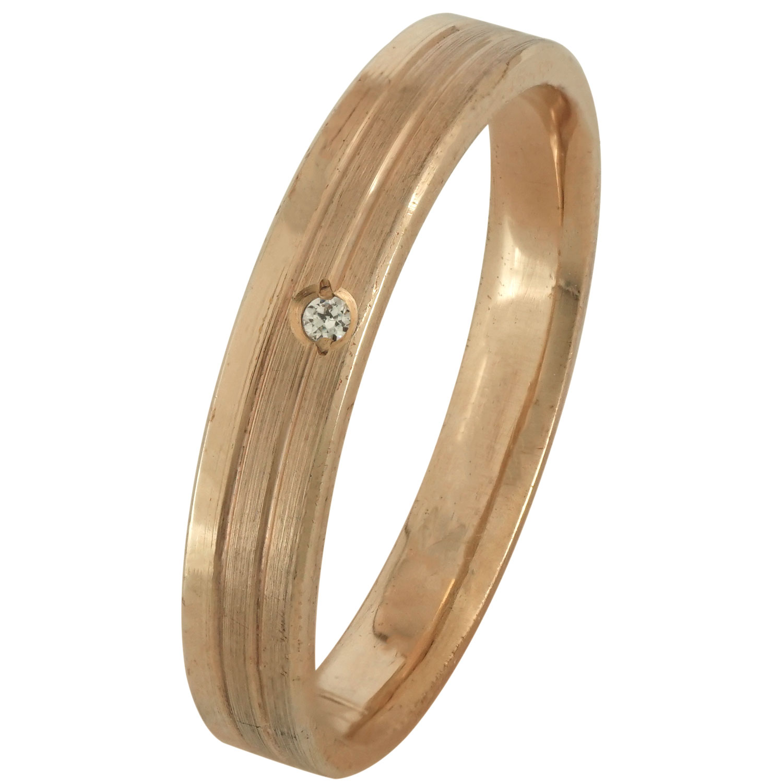 Ροζ Χρυσή Βέρα Γάμου με ή χωρίς Πέτρες WR171R k9 xoris_petra