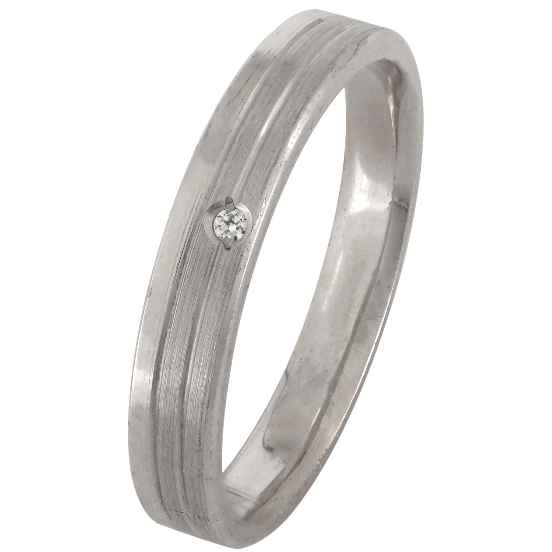 Λευκόχρυση Βέρα Γάμου με ή χωρίς Πέτρες WR171W k18 diamonds