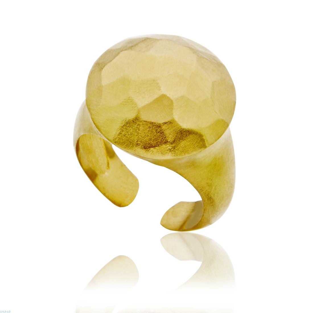 Li-La-Lo Δαχτυλίδι Geometry Από Επιχρυσωμένο Ασήμι 925 DΑS004021
