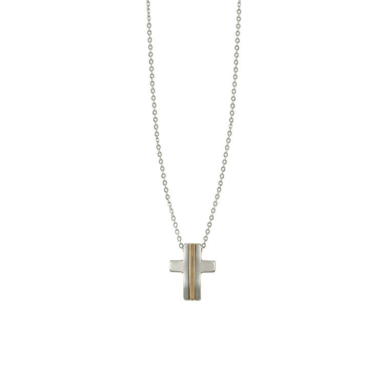 Ανδρικός Σταυρός από Ατσάλι AST111