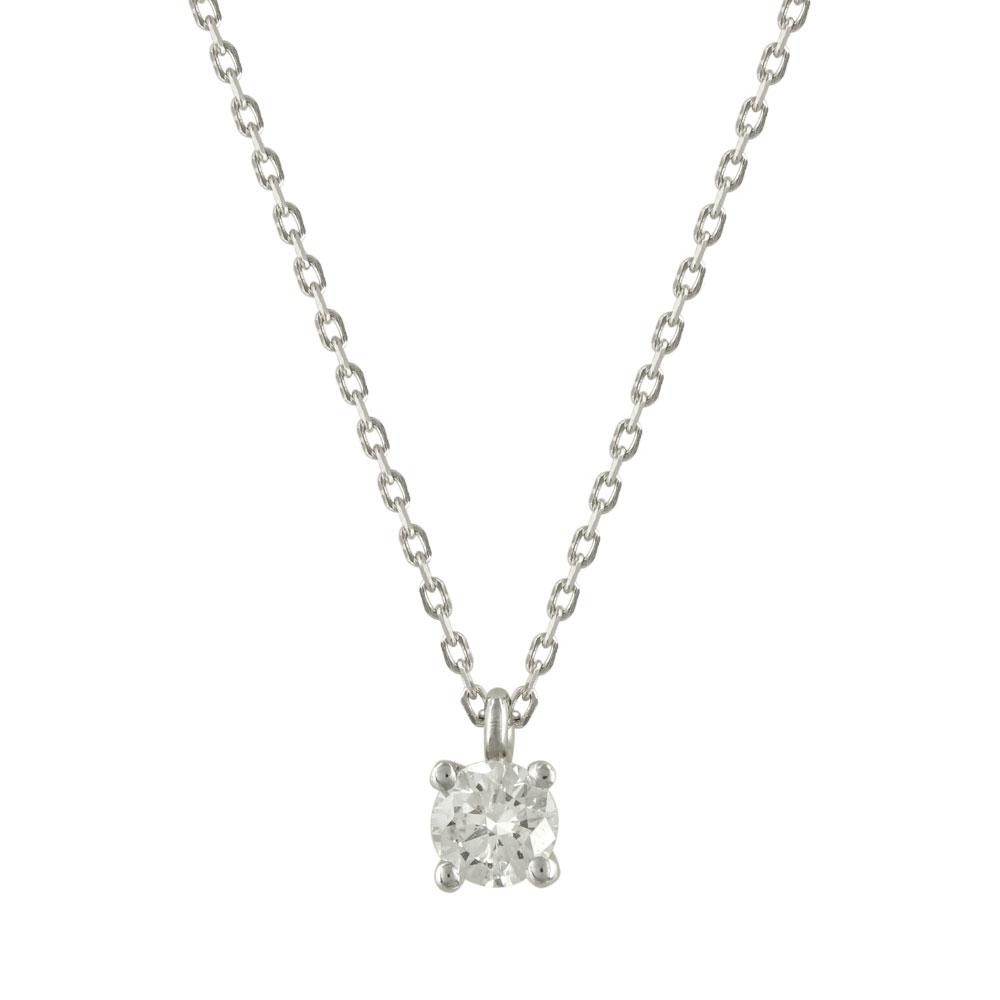 Μενταγιόν με Διαμάντι Brilliant Από Λευκόχρυσο Κ18 P5128