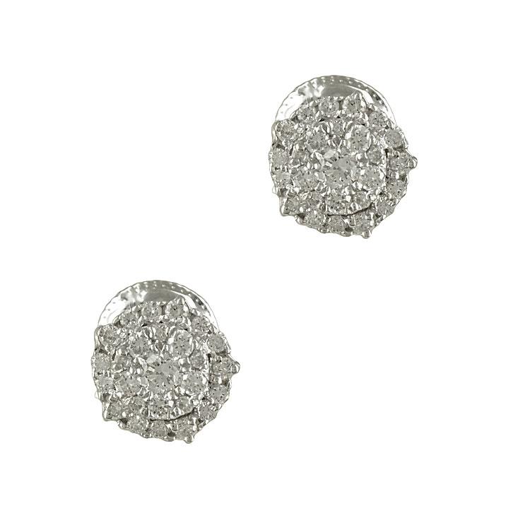 Λευκόχρυσα Σκουλαρίκια με Διαμάντια Brilliant Κ18 E5651  c73ba32a43c