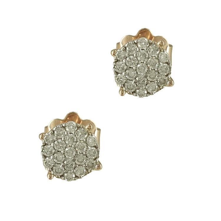 Σκουλαρίκια με Διαμάντια Brilliant Από Ροζ Χρυσό Κ18 E5855