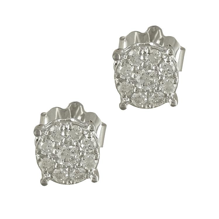 Λευκόχρυσα Σκουλαρίκια με Διαμάντια Brilliant Κ18 E5969  edb682f7929