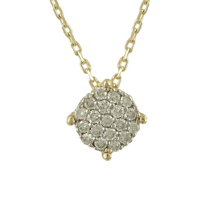 Μενταγιόν με Διαμάντια Brilliant Από Κίτρινο Χρυσό Κ18 P5569