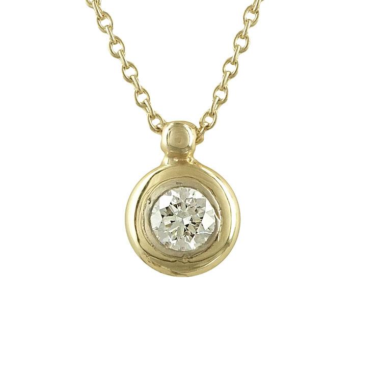 Μενταγιόν με Διαμάντι Brilliant Από Κίτρινο Χρυσό K18 P5741