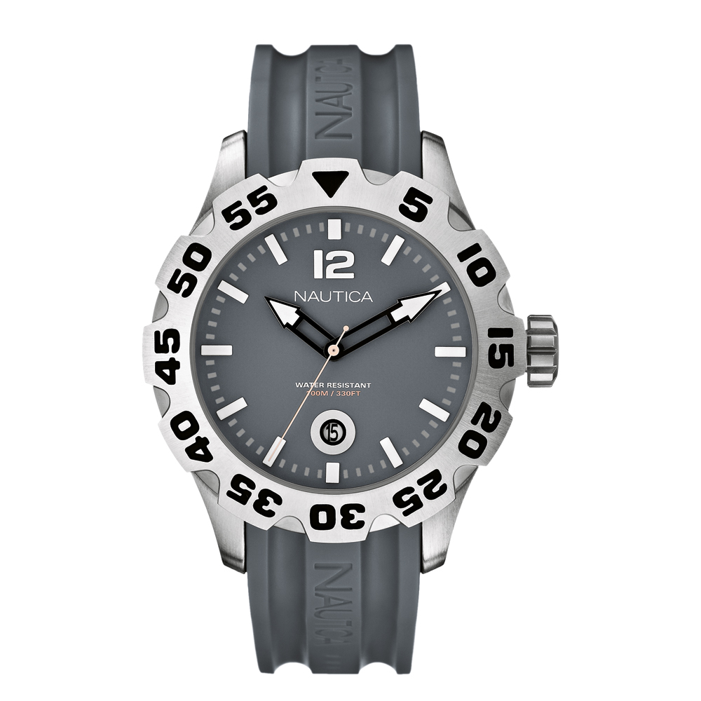 Nautica BFD 100 Analogue Grey Watch A14616G