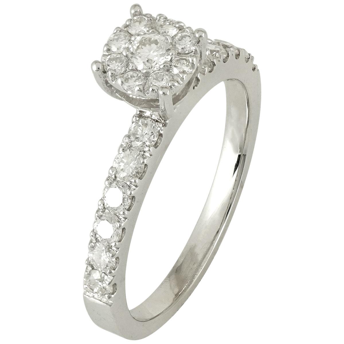 Μονόπετρο Δαχτυλίδι Κ18 με Διαμάντια Brilliant R17179