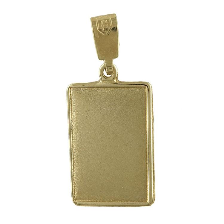 Κίτρινη Χρυσή Ταυτότητα Μενταγιόν Κ14 TM102