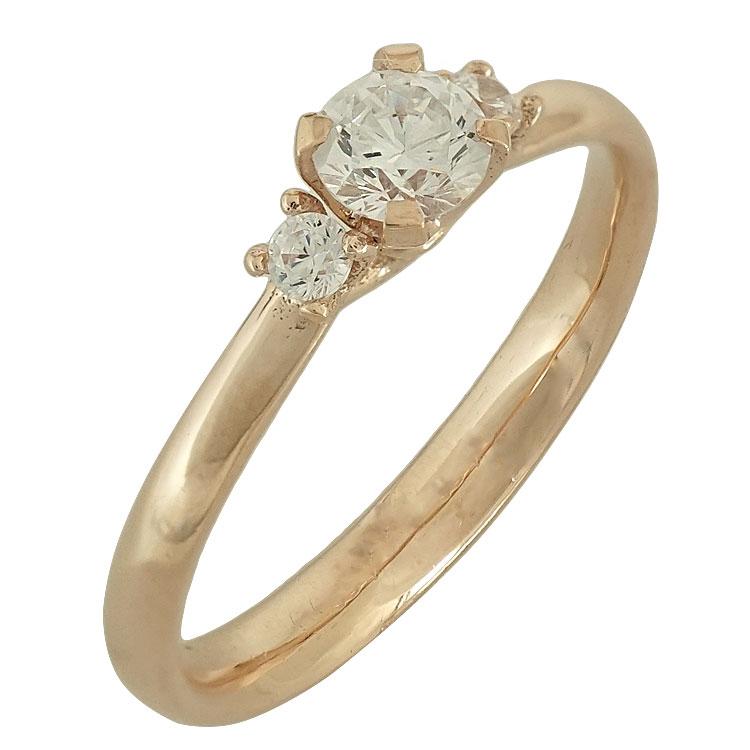 Ροζ Χρυσό Μονόπετρο Δαχτυλίδι Κ14 DX506