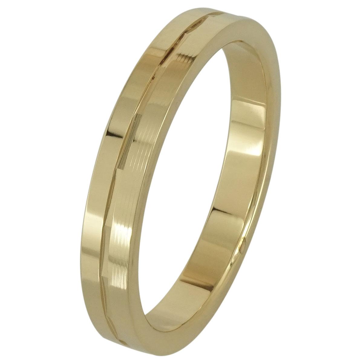 Κίτρινη Χρυσή Βέρα Γάμου WR187 k18