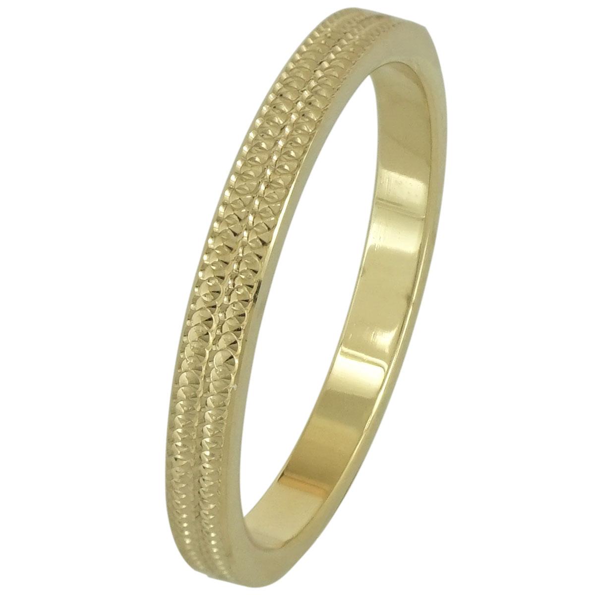 Κίτρινη Χρυσή Βέρα Γάμου WR191 k18