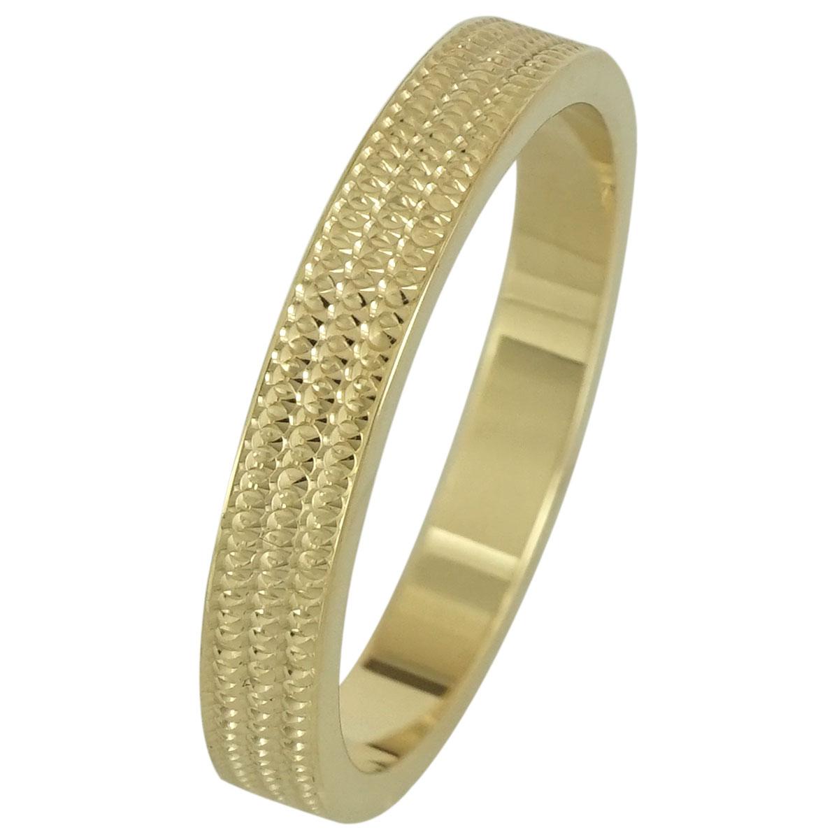 Κίτρινη Χρυσή Βέρα Γάμου WR192 k14