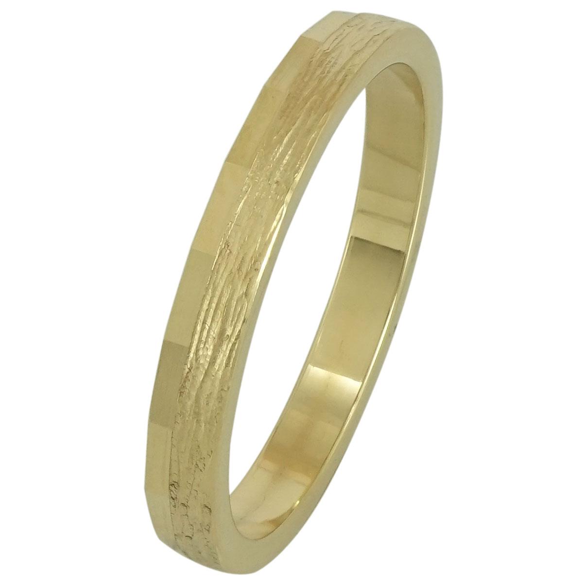 Κίτρινη Χρυσή Βέρα Γάμου WR193 k14