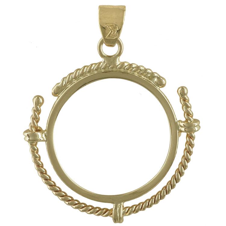 Κίτρινο Χρυσό Μενταγιόν Λιροθήκη Κ14 MLR104