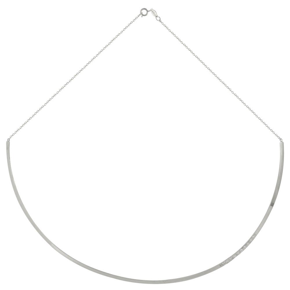 Λευκόχρυσο Κολιέ Βέργα Κ9 KL479
