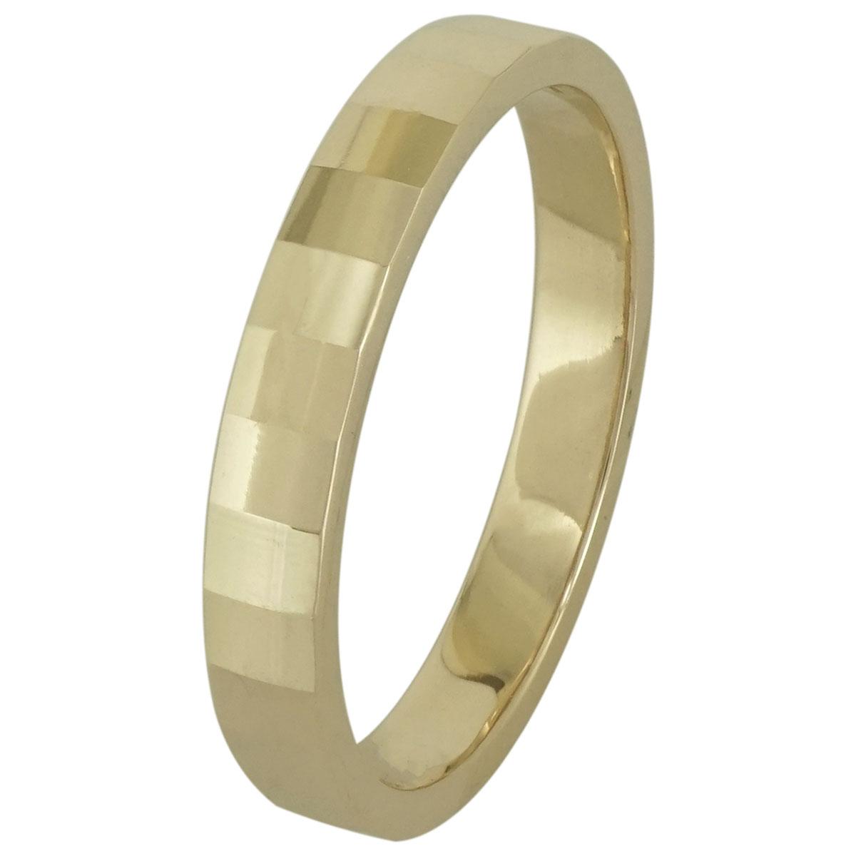 Κίτρινη Χρυσή Βέρα Γάμου WR195 k9