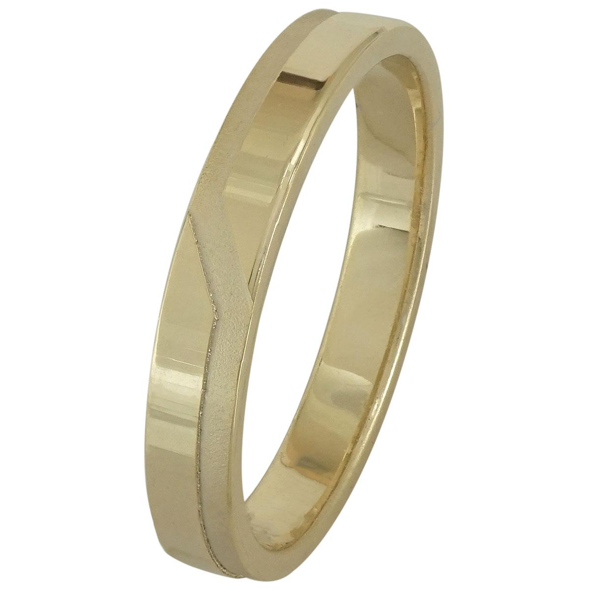 Κίτρινη Χρυσή Βέρα Γάμου WR196 k14