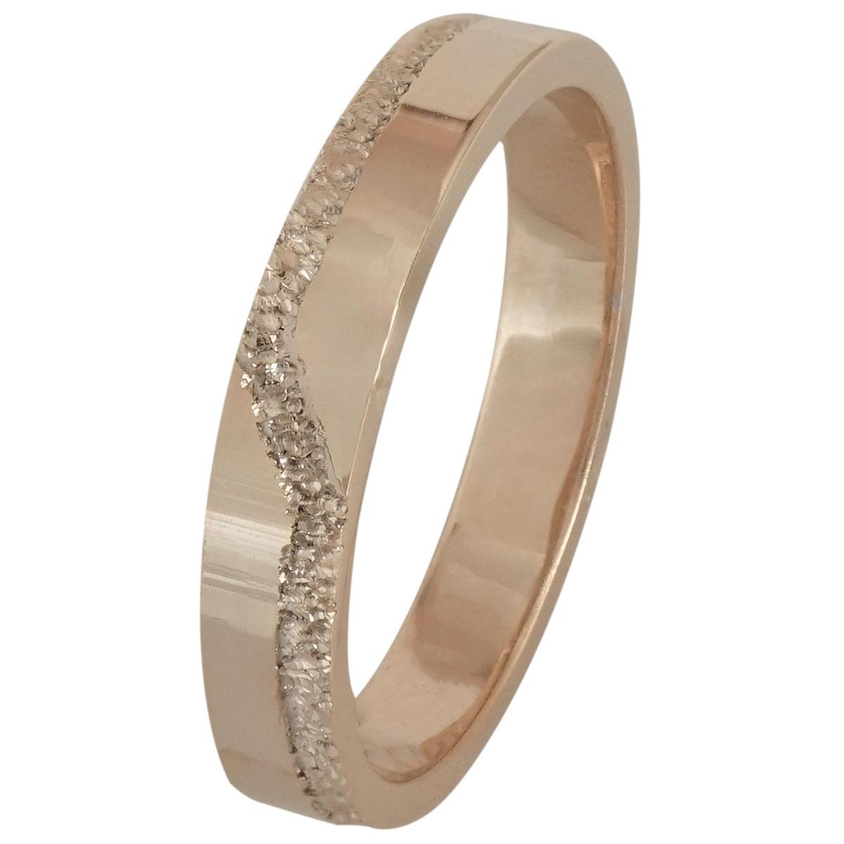 Ροζ Χρυσή Βέρα Γάμου WR197R k18