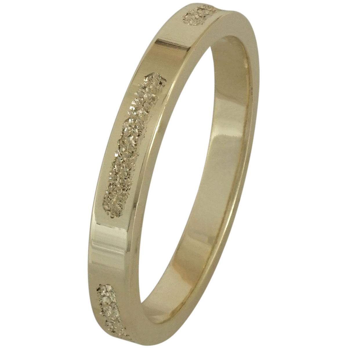 Κίτρινη Χρυσή Βέρα Γάμου WR198 k18