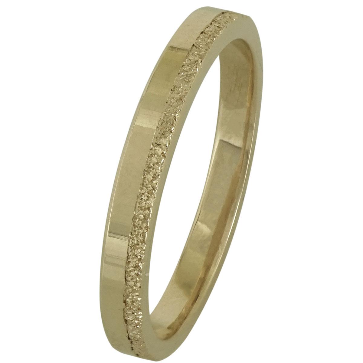 Κίτρινη Χρυσή Βέρα Γάμου WR199 k18