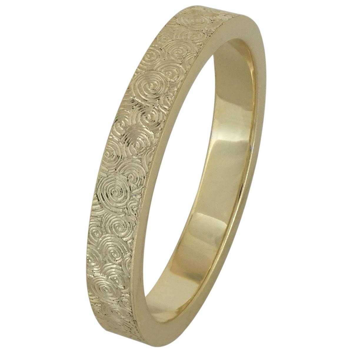 Κίτρινη Χρυσή Βέρα Γάμου WR201 k9
