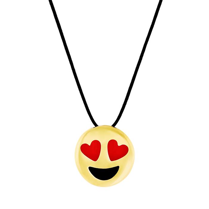 HONOR Κολιέ από Ορείχαλκο Emoji in Love P177