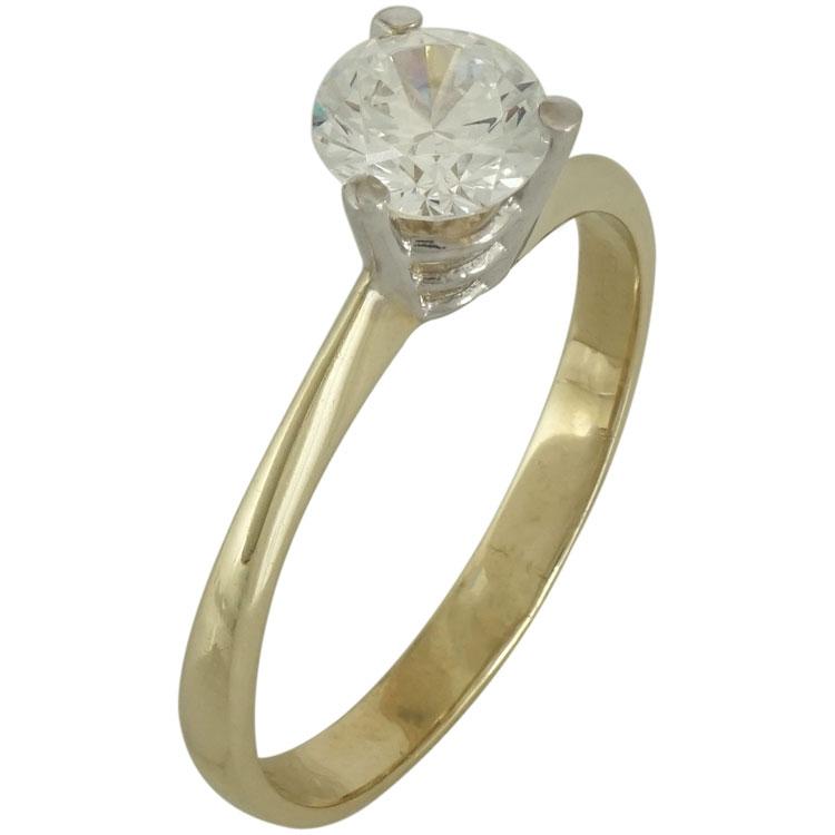 Κίτρινο Χρυσό Μονόπετρο Δαχτυλίδι Κ14 DX517