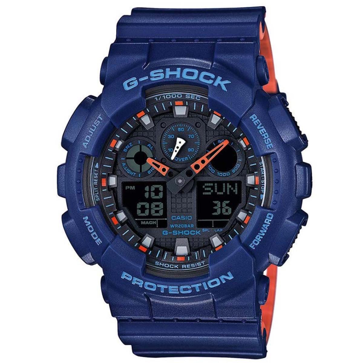 CASIO G-Shock Blue Rubber Strap GA-100L-2AER
