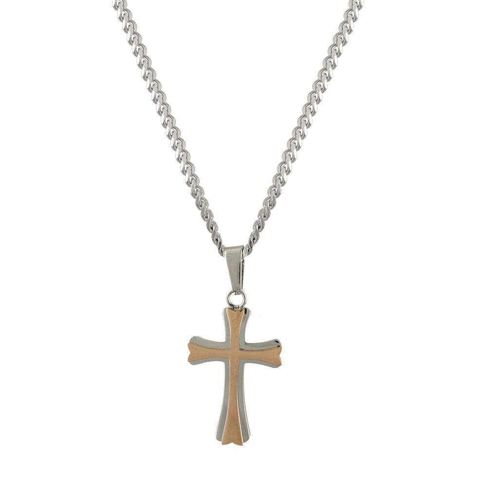 Ανδρικός Σταυρός από Ατσάλι AST122