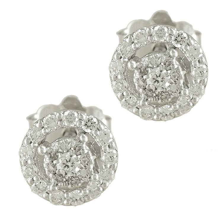 Λευκόχρυσα Σκουλαρίκια με Διαμάντια Brilliant Κ18 E6557  4b9aa12e99e