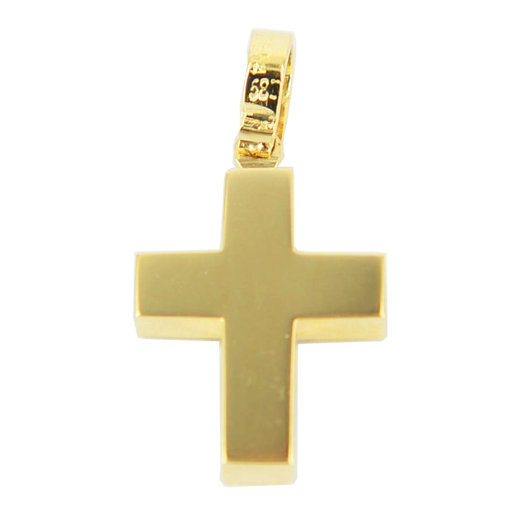 Σταυρός Βάπτισης 14Κ Κίτρινο Χρυσό Ανδρικός ST1145