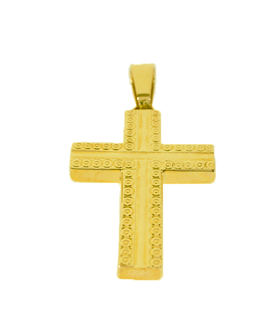 Σταυρός Βάπτισης 14Κ Κίτρινος Χρυσός Ανδρικός ST532