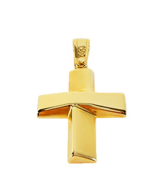 Σταυρός Βάπτισης 14Κ Κίτρινος Χρυσός Ανδρικός ST611
