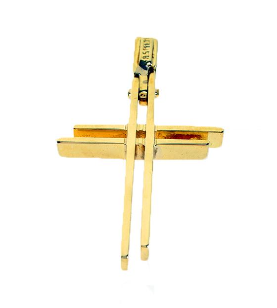 Σταυρός Βάπτισης 14Κ Κίτρινος Χρυσός Ανδρικός ST620