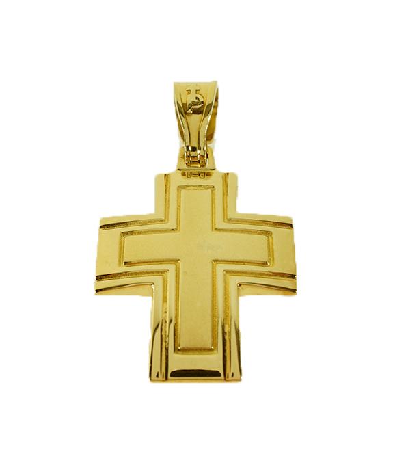 Σταυρός Βάπτισης 14Κ Κίτρινος Χρυσός Ανδρικός ST646