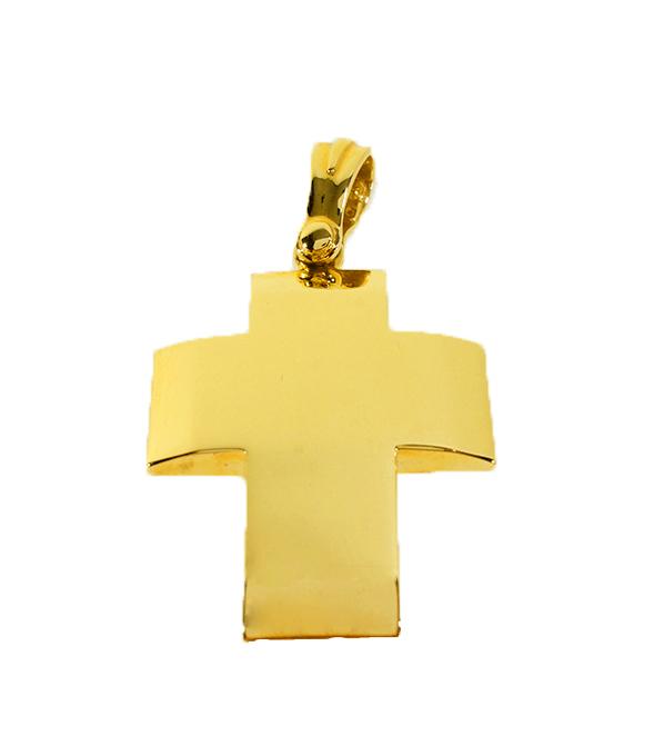 Σταυρός Βάπτισης 14Κ Κίτρινος Χρυσός Ανδρικός ST674