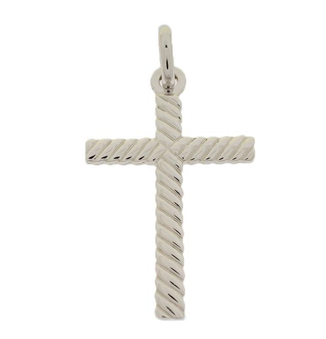 Σταυρός Βάπτισης 14Κ Λευκόχρυσος Ανδρικός ST671