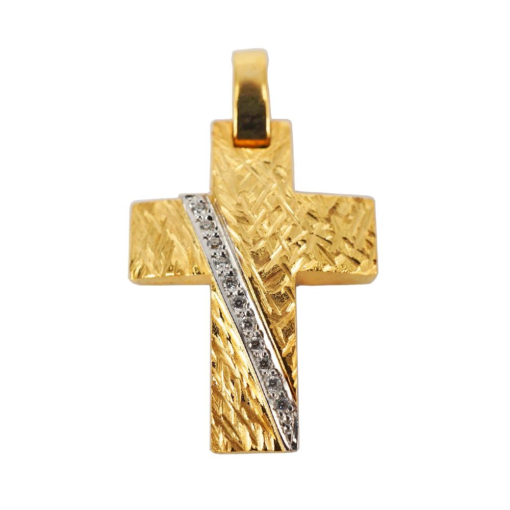 Σταυρός Βάπτισης 14Κ Κίτρινος Χρυσός Γυναικείος ST1006