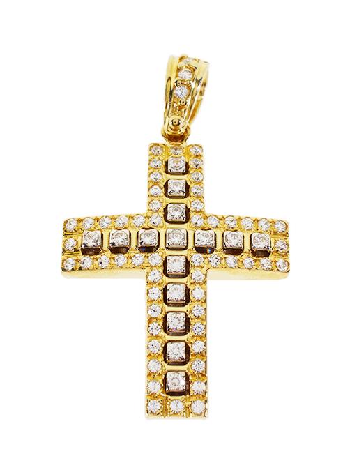 Σταυρός Βάπτισης 14Κ Κίτρινος Χρυσός Γυναικείος ST561